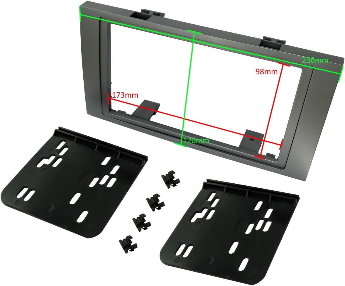 Adaptateur Autoradio Fa/çade Cadre R/éducteur 2DIN pour auto voiture Aerzetix