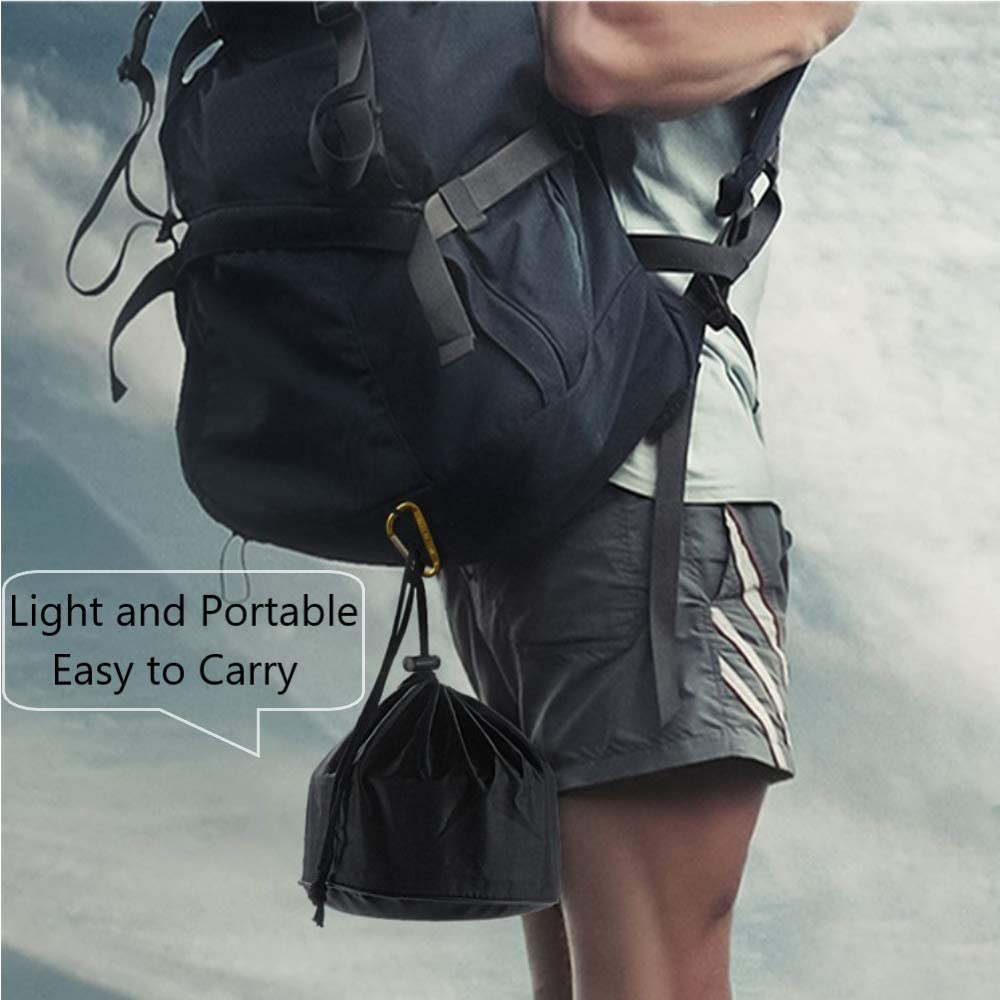 Sac en Nylon Livres /électroniques HUSAN kit de Cuisine Camping et randonn/ée ext/érieur Cuisson /équipement l/éger Pot Pan Bols Gratuit Cuill/ère-Fourchette Pliante Durable Compact
