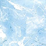 Magic Cover Self-Adhesive Vinyl Contact Paper, Shelf and Drawer Liner, 18-Inch by 20-Feet, Marble Baby Blue