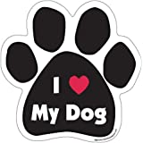 I Love ( Heart ) My Dog Paw Magnet