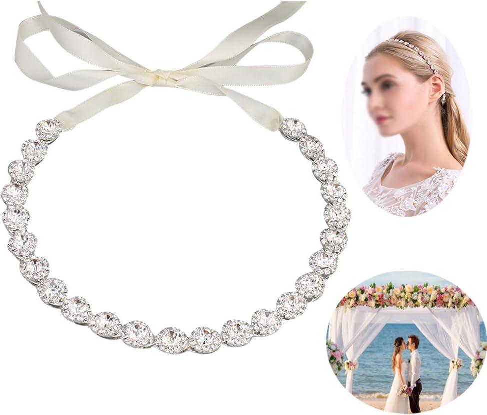 Zaptex Bridal Leaf Rhinestones Belt Decor Dress Flower Sash for Women Accessories