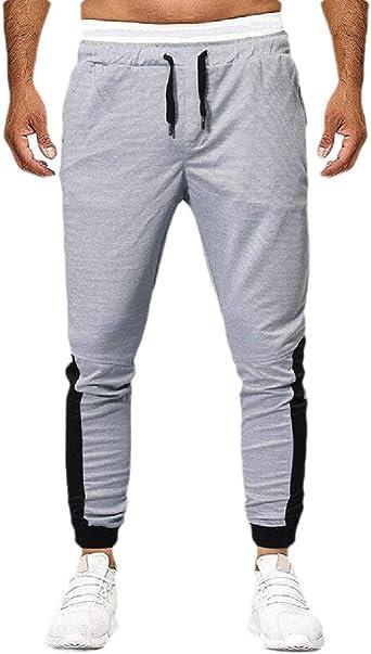 security Pantalones de chándal con Cremallera para Hombre Gris ...