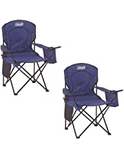 Coleman Oversized Quad Chair with Cooler Pouch (Blue/Set of 2)