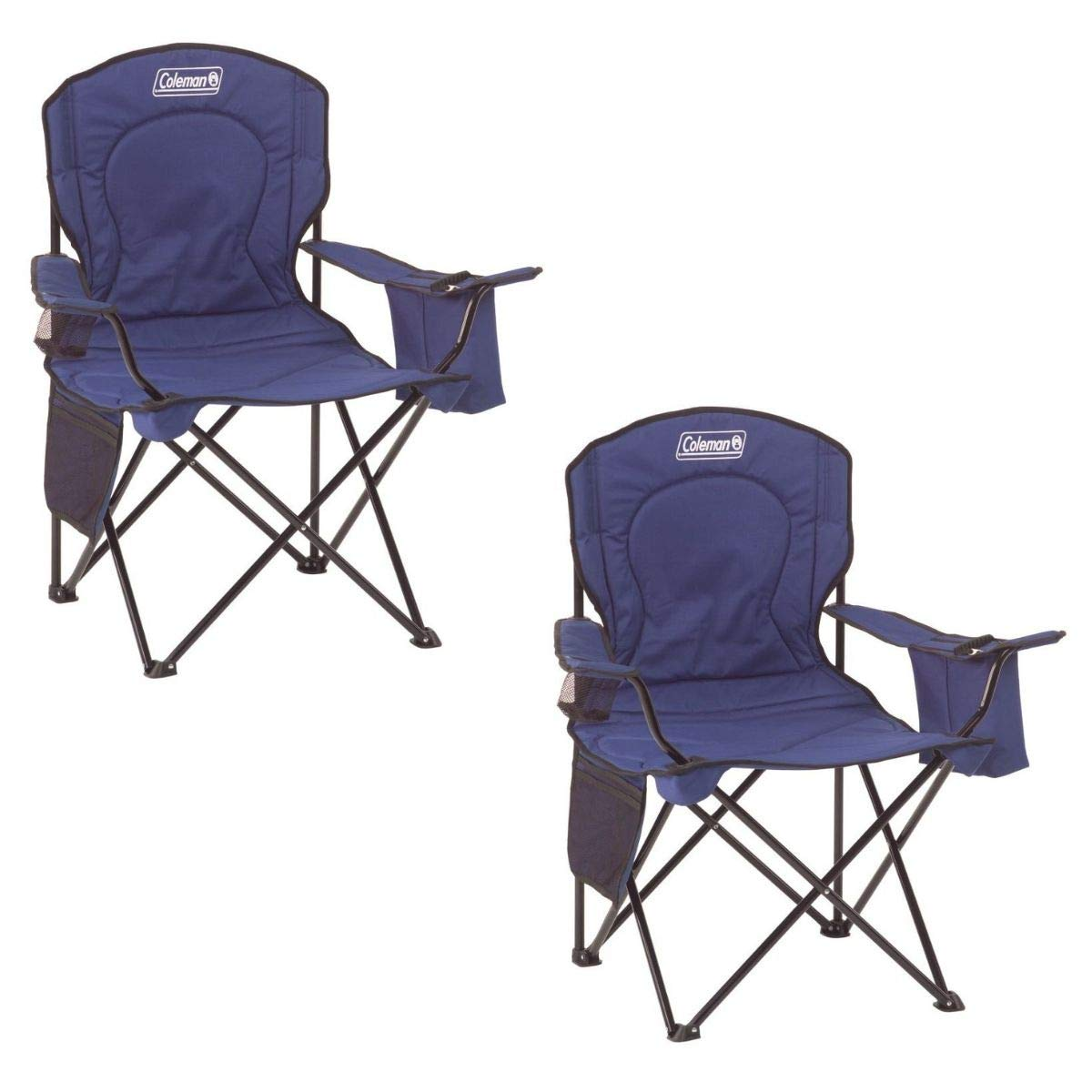 Coleman Oversized Quad Chair with Cooler Pouch (Blue/Set of 2) by Coleman