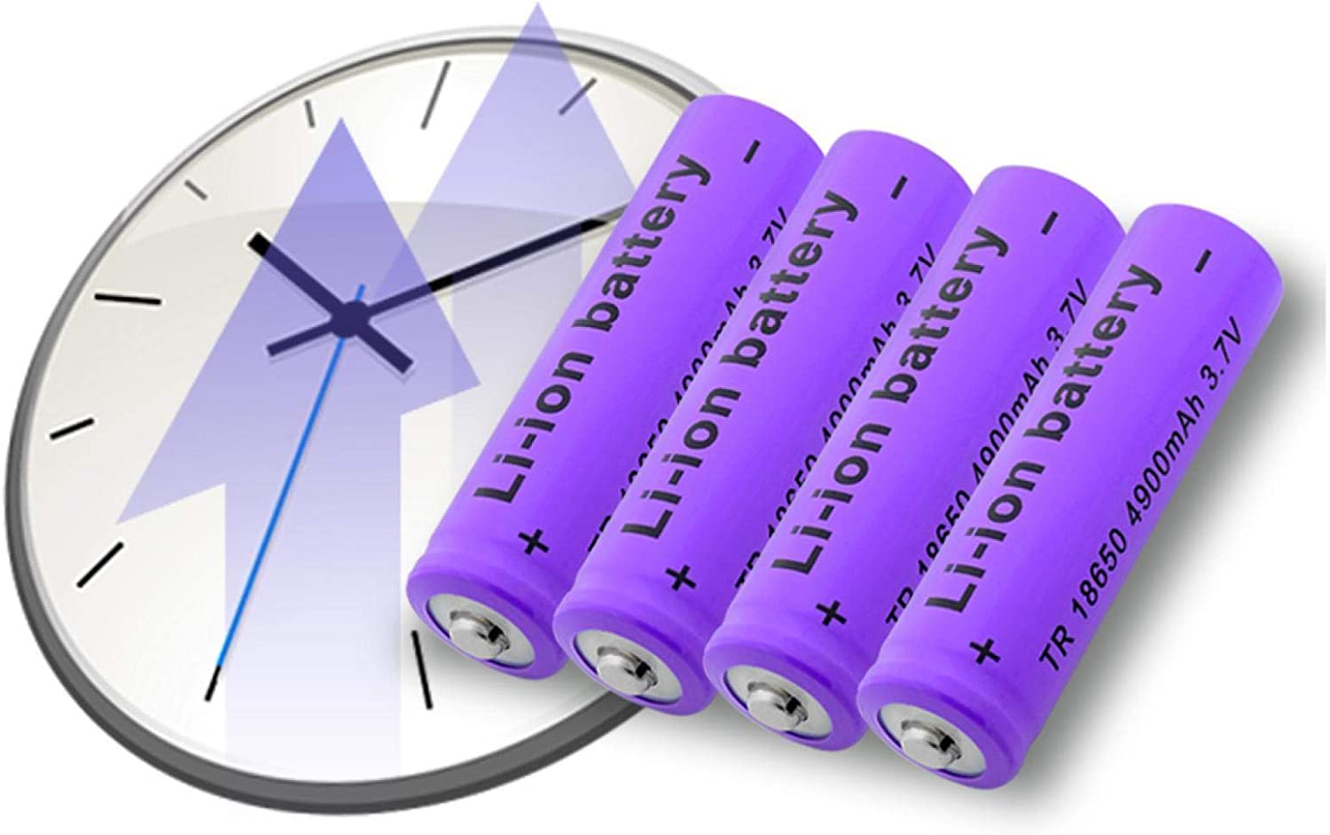 LUCKYHOUSEHOME Rechargeable 18650 Battery 3.7V 4900mAh, Li-Po Lithium Li-polymer Li-ion Replacement Batteries, For LED Flashlight Torch 4PCS 1PCS
