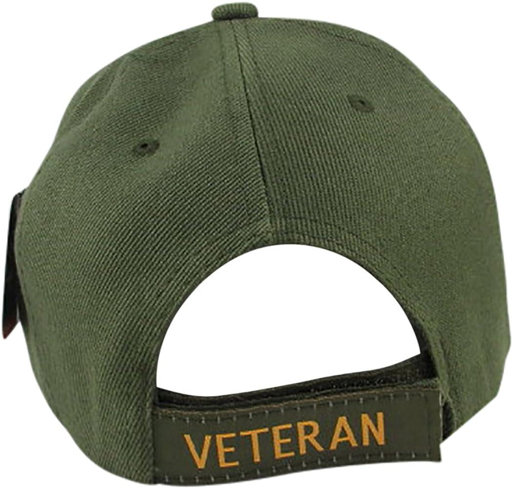 Olive Fit Disabled Vietnam Veteran with Campaign Ribbon Baseball Hat Adj