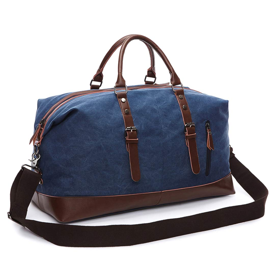 Mens Duffel Canvas Bags Overnight Travel Bags Large Capacity Luggage Wild Bag Leisure H bags Black
