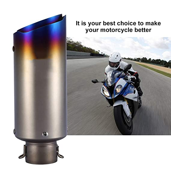 Cuque Motorcycle Rear Pipe, 51mm / 2 Inch Motorbike Outlets Exhaust Muffler Tailpipe Stainless Steel Fit for Z650 Z800 Z900 Z1000 Ninja 300 400 650 ...