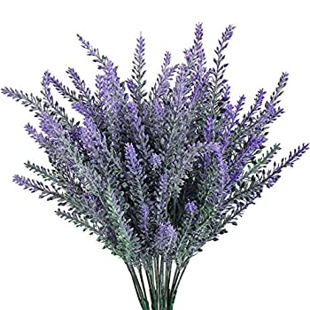 4pcs Artificial Flocked Lavender Bouquet in Purple Flowers Arrangements Bridal Home DIY Floor Garden Office Wedding Decor