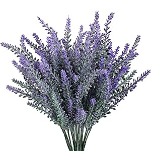4pcs Artificial Flocked Lavender Bouquet in Purple Flowers Arrangements Bridal Home DIY Floor Garden Office Wedding Decor 14