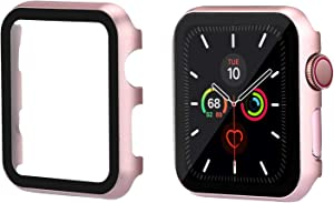 TOMAZON Case Compatible for Apple Watch 42mm Series1/2/3 with Anti-Scratch Screen Protector Cover, Ultra-Thin Full Coverage Shockproof Defense Edge Bumper for iWatch 42mm(Rose Gold)