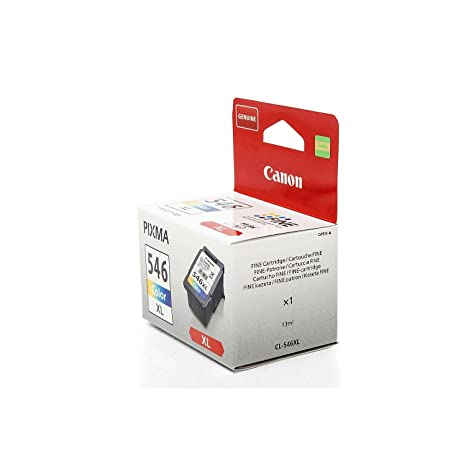 XL Original Canon 8288B001 / CL-546XL tinta (Color, aprox. 300 Páginas, volumen 13 ml) para Pixma IP 2850, MG 2450, MG 2455, MG 2550, MG 2555, MG ...