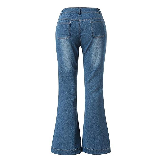 NPRADLA Vaqueros Jeans Tendencia Mujeres Otoño Elástico Plus ...