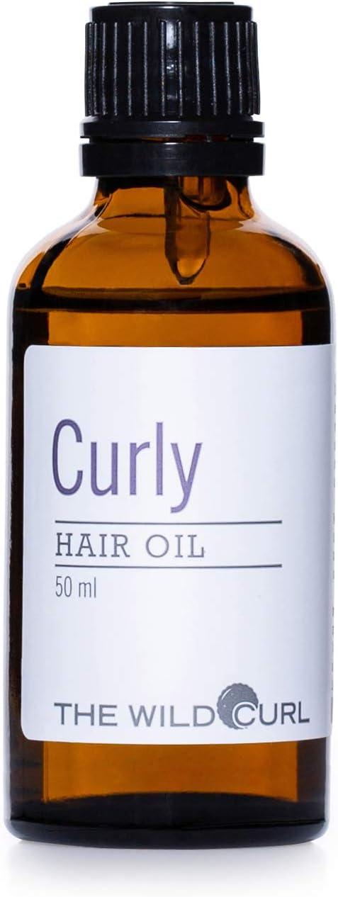 Curly Argan Oil - Aceite Para el Cabello Rizado, Agrega Fuerza y Hidratación | 50ml | Para el Pelo Rizado | Sin Sulfatos, Vegano y 100% Natural | Aceite de Argán, Coco y Aguacate | The Wild Curl