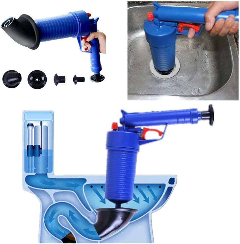 Vegetable Finlon Drain Cleaning Tool Plunger Sink Sewer Dredge Tool Toilet High Pressure Drainage Kitchen Sewer Cleaning Tools Drain Blaster Drain Cleaner Hair Garbage