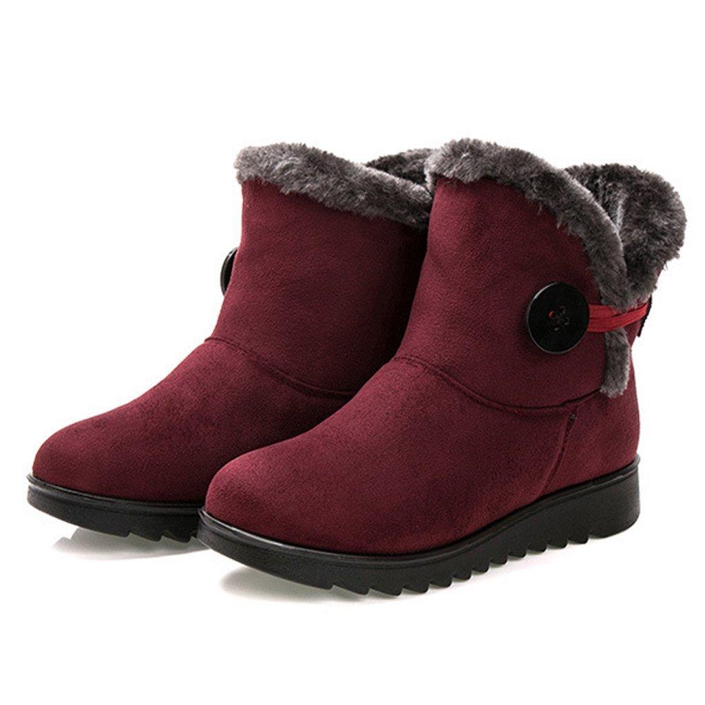 Dear Time Women Winter Warm Button Snow Boots