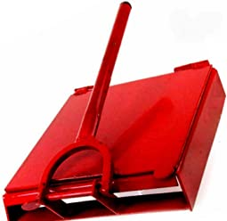 Made in Mexico Red Manual Flower/Corn All Metal Tortilla Maker Press 10x10 inch Square