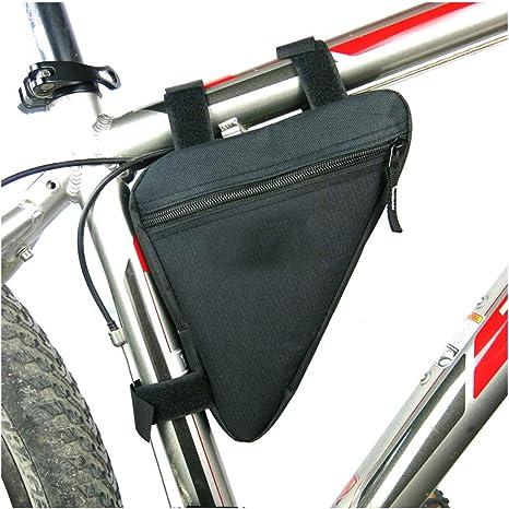 Lezed Bolsos de Bicicleta Triangulares de Nylon, Bicicleta Bolsa de sillín, Bicicletas,Bicicleta de Carreras (Negro): Amazon.es: Deportes y aire libre
