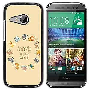 Dragon Case - FOR HTC ONE MINI 2 / M8 MINI - animals of the world - Caja protectora de pl??stico duro de la cubierta Dise?¡Ào Slim Fit