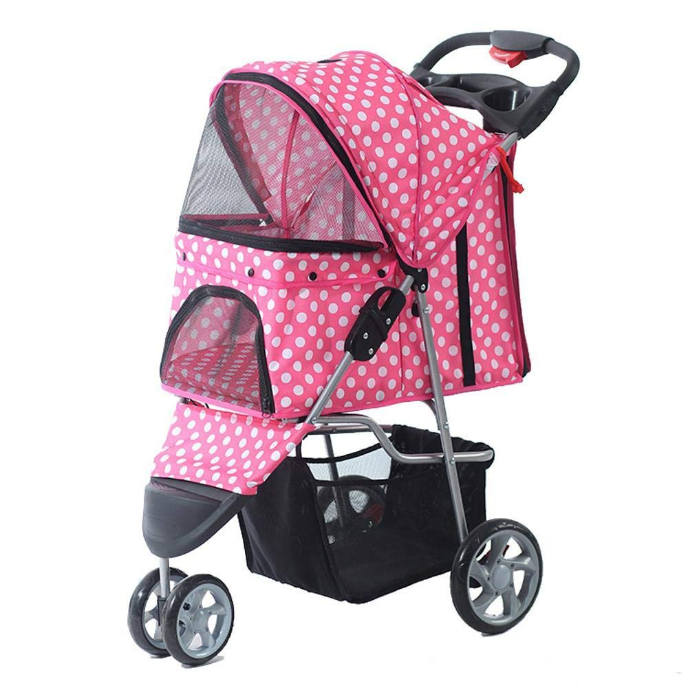 D Kaxima Pet StrollerTricycle pet Car One key Guanche quick Install foldable