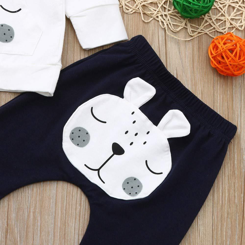 Pantalons Set Outfit V/êtements Bebe Naissance Theshy Ensembles Bebe Garcon Fille 2Pcs B/éb/é Bambin Manches Longues V/êtements De Dessin Anim/é Bear Top