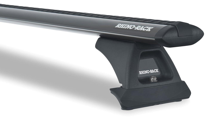 ホンダCR - V 4dr SUV 2007 to 2011 – 渦RLCPブラック2バー屋根ラック B075331PB7