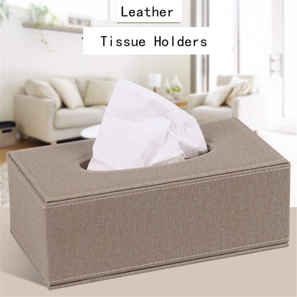 ENXING Bo/îte /à mouchoirs en Cuir PU Porte-Serviettes en Papier imperm/éable Porte-Serviettes pour Voiture familiale 25,5 x 13,5 x 9,5 cm Couleur des m/éduses