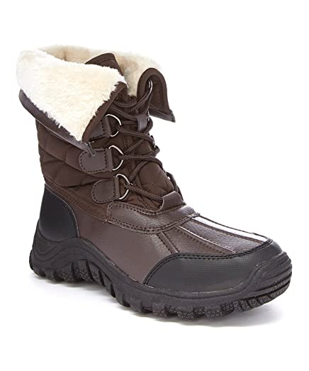 Nadia Womens Fashion Foldover Faux Shearling-Lined Lace-Up Boots