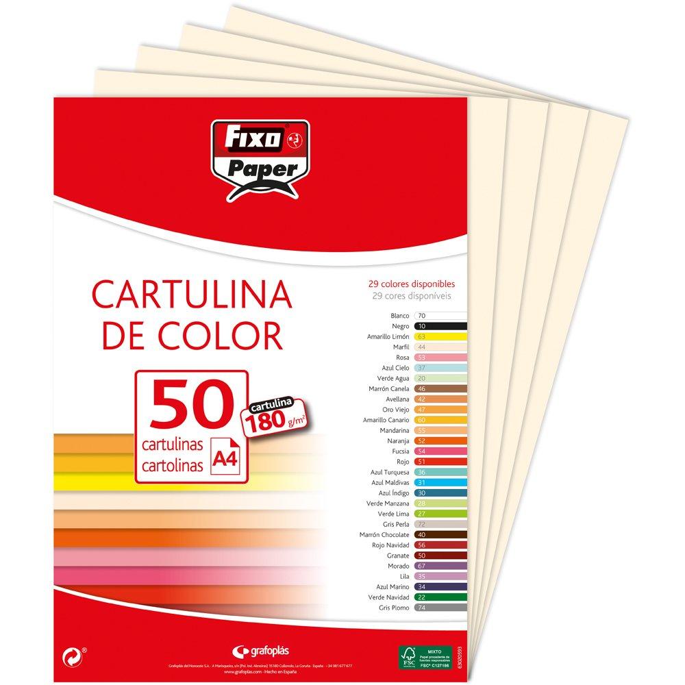 Fixo Paper 11110334 Paquete de cartulinas A4 180g 50 unidades color azul marino