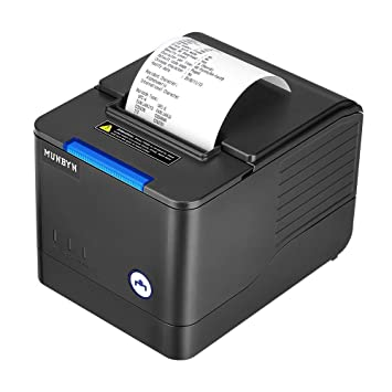 MUNBYN Impresora de Recibos de impresoras térmicas de Cocina Impresora de Recibos de Impresora Munbyn 260 mm/s Cajón de Efectivo Auto-Cut, Ethernet de ...