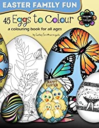 45 Eggs to Colour - Easter Colouring - Easter Family Fun