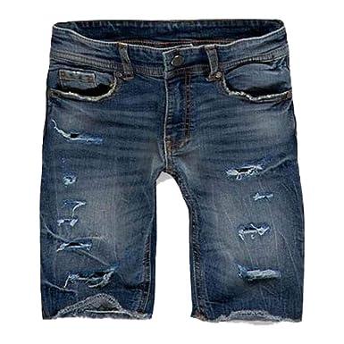 78e6318a7242bc Jordan Craig Shredded Jean Short Studio Blue at Amazon Men s Clothing store
