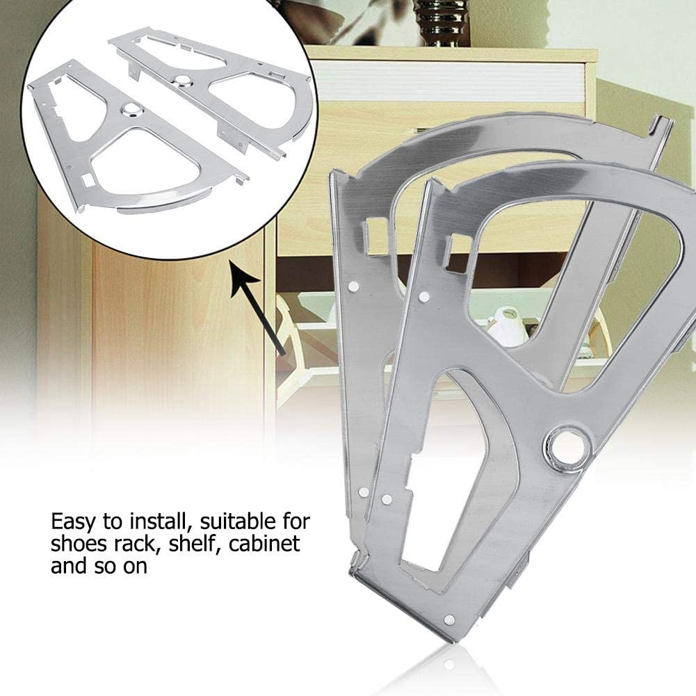 1 Layer 1 Paar Edelstahl Bewegliche Schuhe Schrank Scharniere M/öbel Teile Hardware Versteckte /Über Fitting