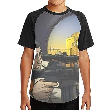 Angela R Mathews Golgo 13 Men Popular Polyester Short Sleeve Shirt Anime T Shirt