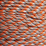 Orange Camo 550 Paracord Parachute Cord Type III Military 7 Strand Polyester 100FT, Outdoor Stuffs