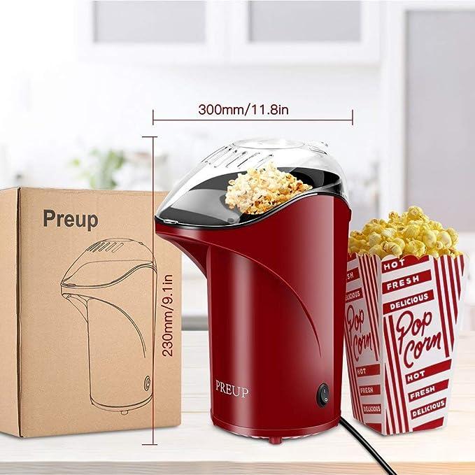 PREUP  Fat-Free Hot Air Popcorn Maker Popcorn Machine UK