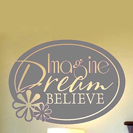 yaoxingfu Imagine Dream Believe Tatuajes de Pared para Sala de ...