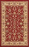 Unique Loom Kashan Collection Burgundy 5 x 8 Area Rug (5' x 8')