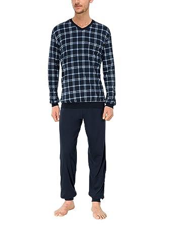 schiesser herren zweiteiliger schlafanzug amazon de bekleidung  schiesser herren zweiteiliger schlafanzug anzug lang, blau (blau 800), gr s