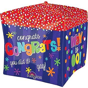 15 Multicolor Anagram International Baby Block Cubez Balloon Pack