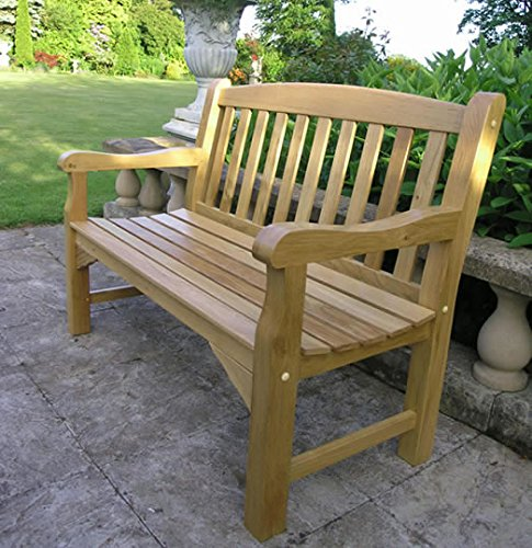 Simply Wood Solid Oak Garden Bench 4Ft 2 Seater