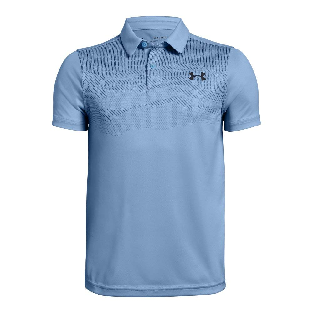 Under Armour Jordan Spieth 3Rd Major Saturday Polo, Boho Blue//Pitch Gray, Youth X-Large by Under Armour
