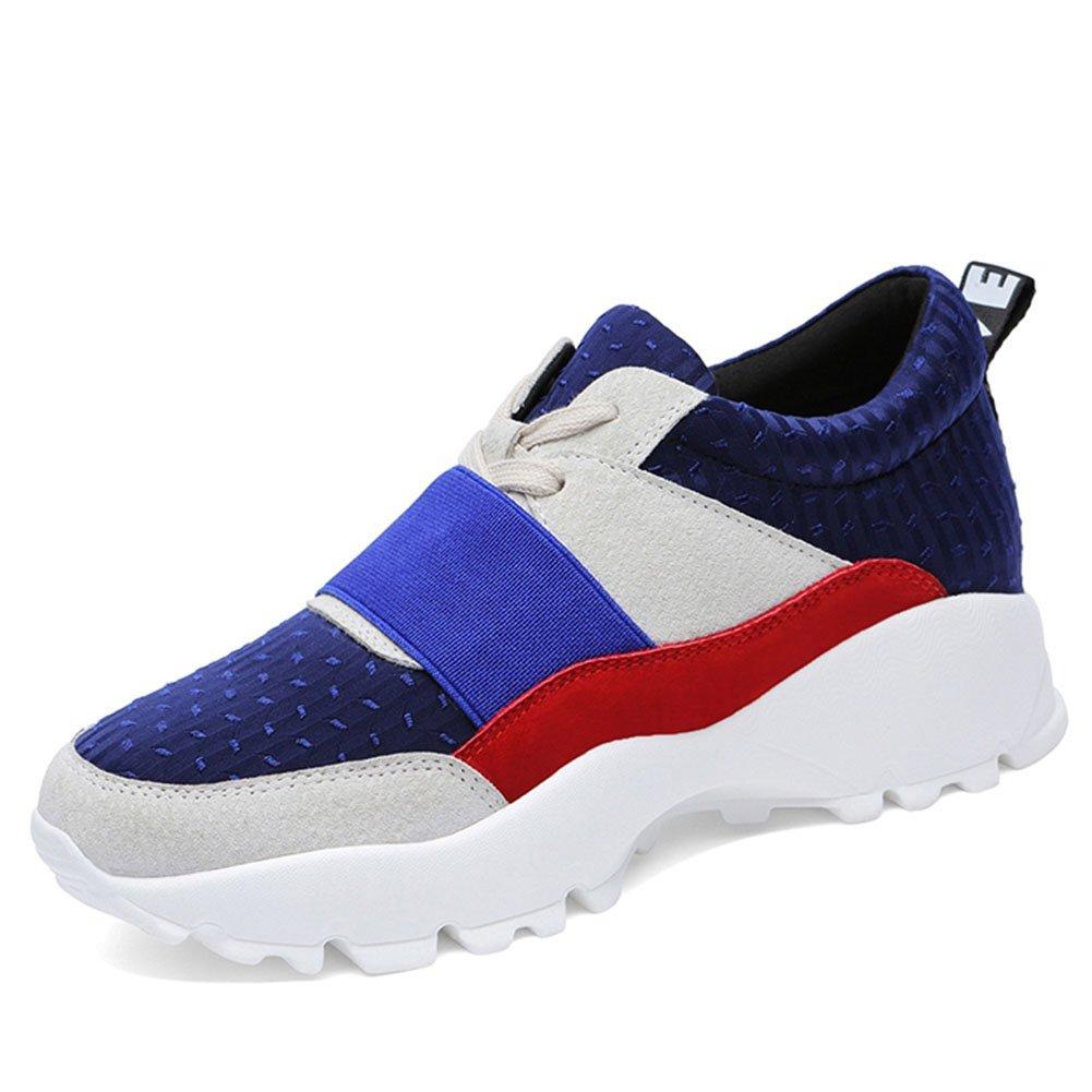 CAI Turnschuhe der Frauen-Turnschuh-beiläufiger Schuhe-Frauen-Frühlings-Fall-Beleg-auf beiläufigem laufendem Turnhallen-Turnschuh-Schuh-Damen-beiläufigen Sport-Schuhen (Farbe   Blau Größe   36)