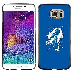 A-type Arte & diseño plástico duro Fundas Cover Cubre Hard Case Cover para Samsung Galaxy S6 (Metroid Splash)