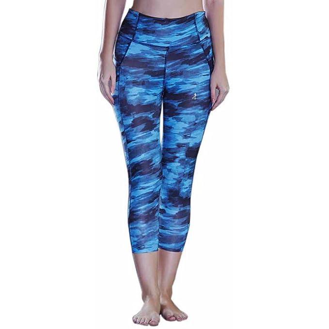 cb829302d201a RRAVE Womens Capris Groovy Leggings high Waist Yoga Sports wear for Women &  Girls (Small