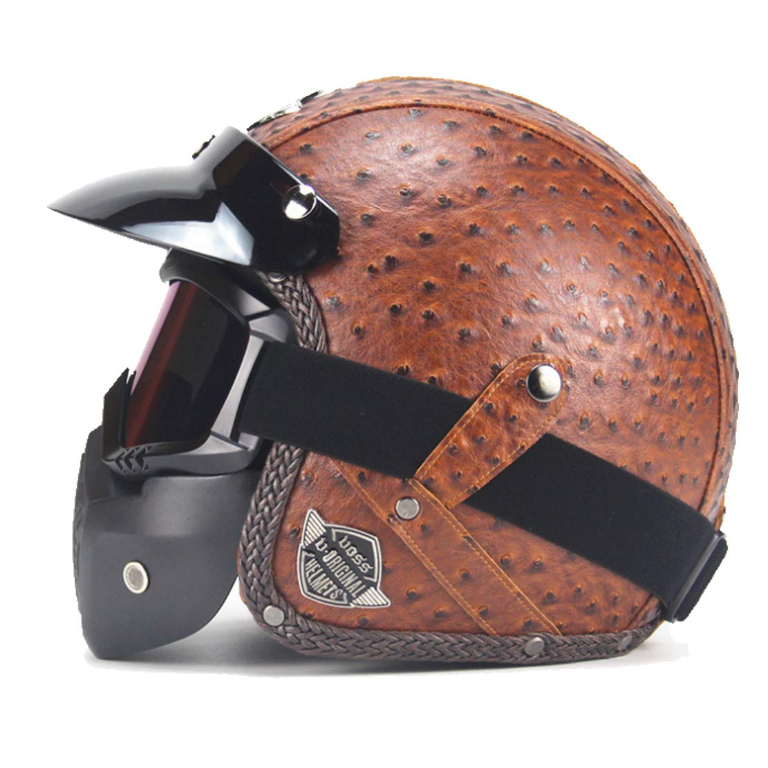 Vintage casco hand-made retro Harley casco 3/4 del casco mezzo del casco per moto Harley Yamaha Honda moto/elettrico honor JD harley honda