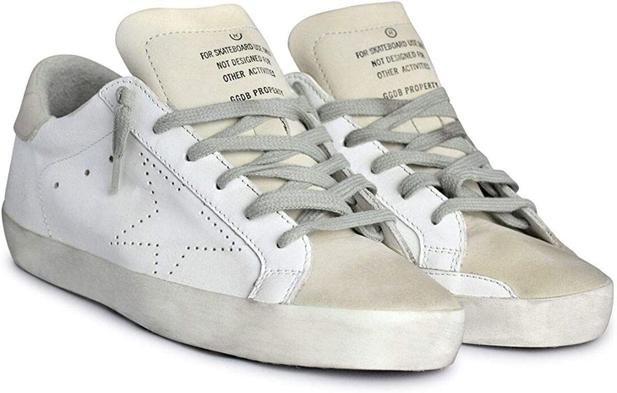 Golden Goose White and Grey Perforated
