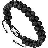 murtoo Essential Oil Bracelet Adjustable Beads Bracelet Lave Stone Perfume Diffuser, 7''-9'' Gift