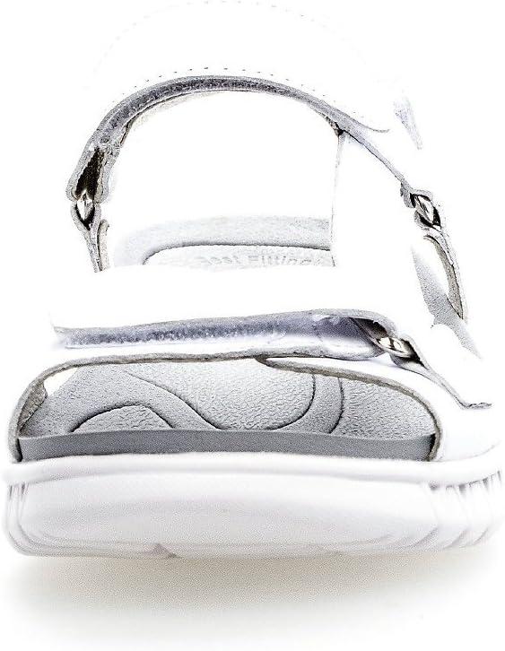 Gabor 84.731.17 Damessandaletten, sandalen, zomerschoenen, strandschoenen, breder loopvlak dankzij de beste fitting, ultralicht wit