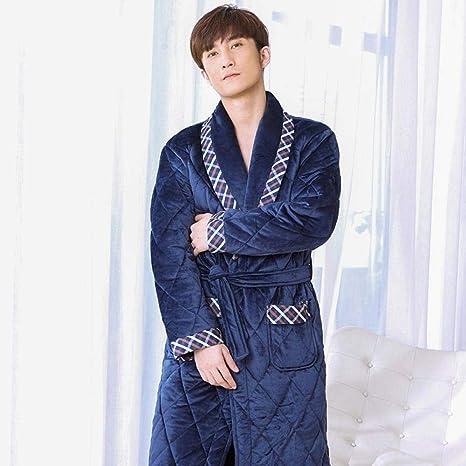 Zixiyawei Albornoz Hombre Bata De Bano Para Hombre Algodon Acolchado Hombres Grueso Tallas Grandes Kimono De Invierno Albornoz Homme Pijamas Calidos Amazon Es Deportes Y Aire Libre